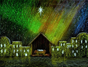 northern lights nativity